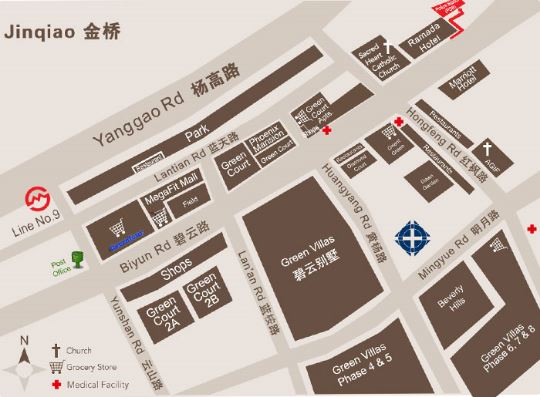 Shanghai's International school Jinqiao Map