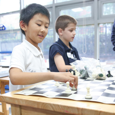 Concordia Shanghai students chess activity