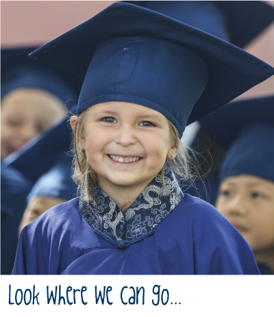 Concordia Shanghai student smiling for graduation photo