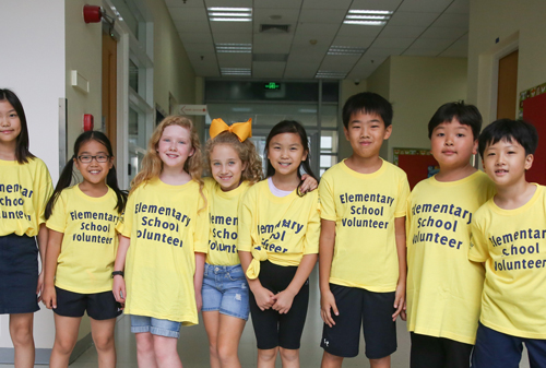 Shanghai's International elementary volunteers